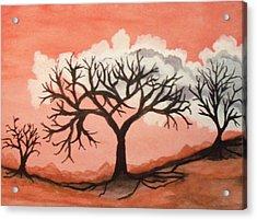 Atumn Trees Acrylic Print by Connie Valasco