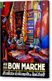Acrylic Print featuring the painting Au Bon Marche by Tom Roderick