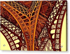 Acrylic Print featuring the photograph Au Pied De La Tour Eiffel by Danica Radman