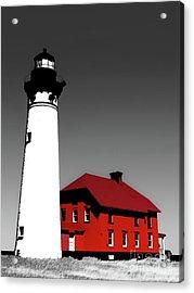Au Sable Point Light Sc Acrylic Print by Tim Richards