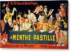Au Tribunal De La Haye La Menthe Pastille Vintage Acrylic Print