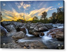 Acrylic Print featuring the photograph Auasble River Sunset 2 by Mark Papke