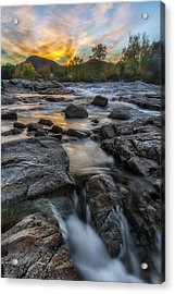 Acrylic Print featuring the photograph Auasble River Sunset by Mark Papke