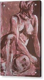 Aubergine Female Nude Acrylic Print