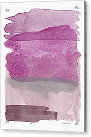 Aubergine Wash- Art By Linda Woods Acrylic Print by Linda Woods