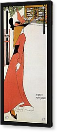 Aubrey Beardsley - Girl In Red Gown - Vintage Advertising Poster Acrylic Print