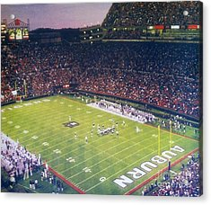 Auburn Football Acrylic Print by Elizabeth Coats