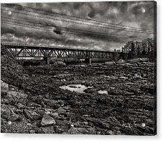 Auburn Lewiston Railway Bridge Acrylic Print by Bob Orsillo