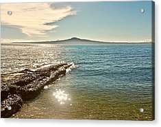 Auckland Harbour On A Winter's Afternoon Acrylic Print