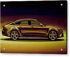 Audi Rs7 2013 Mixed Media Acrylic Print