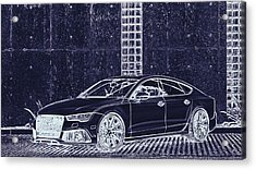 Audi Rs7 Vossen  Acrylic Print by PixBreak Art