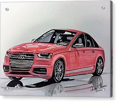 Audi S4 Acrylic Print by Kevin F Heuman
