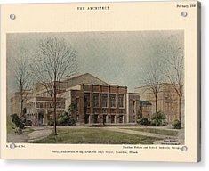 Auditorium Of Evanston High School. Evanston Illinois 1930 Acrylic Print by Hamilton and Fellows and Nedved