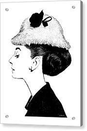 Audrey Acrylic Print by Greg Joens