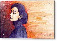 Audrey Hepburn 1 Acrylic Print by Yuriy  Shevchuk