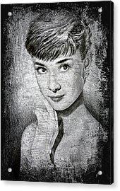 Audrey Hepburn Acrylic Print by Andrew Read