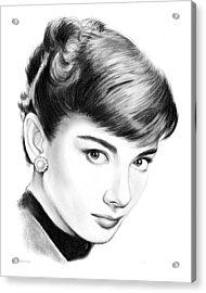 Audrey Hepburn Acrylic Print by Greg Joens