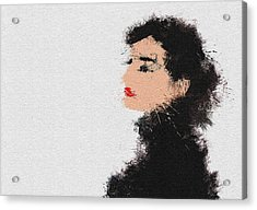 Audrey Hepburn Acrylic Print by Miranda Sether