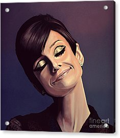 Audrey Hepburn Painting Acrylic Print by Paul Meijering