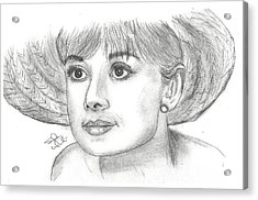 Audrey Hepburn Smile Acrylic Print