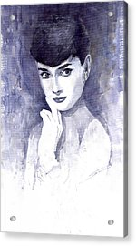 Audrey Hepburn  Acrylic Print by Yuriy  Shevchuk
