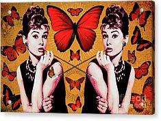 Audrey Hepburn_popart05 Acrylic Print by Bobbi Freelance