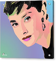 Acrylic Print featuring the digital art Audrey by John Keaton