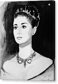 Audrey Acrylic Print by Laura Rispoli
