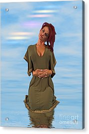 Audrey Michelle 2030215 Acrylic Print by Rolf Bertram