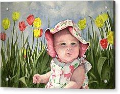 Audrey Acrylic Print by Sam Sidders