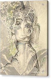 Audrey Two -- Portrait Of Audrey Hepburn Acrylic Print