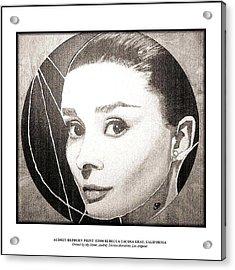 Audreyhepburnprint Acrylic Print by Rebecca Tacosa Gray