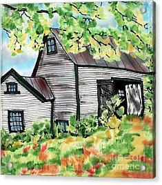 August Barn Acrylic Print by Linda Marcille