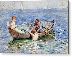 August Blue Acrylic Print by Henry Scott Tuke
