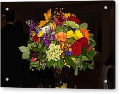 August Bouquet Acrylic Print by Lyn Vic