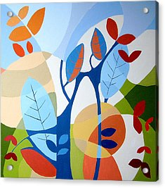 August Acrylic Print by Carola Ann-Margret Forsberg