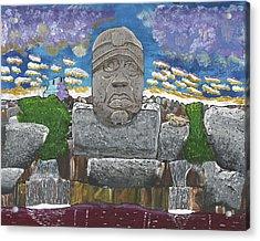 August  Olmec Head Acrylic Print