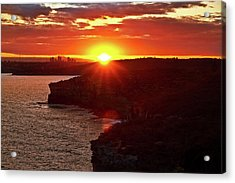 August Sunset From North Head Acrylic Print