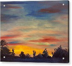 August Sunset In Sw Montana Acrylic Print
