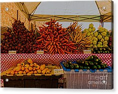 August Vegetables Acrylic Print