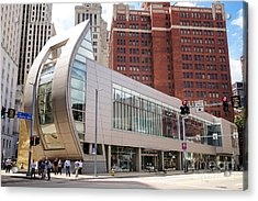 August Wilson Center Acrylic Print by Amy Cicconi