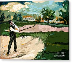Augusta National Bobby Jones Vintage Golf Acrylic Print by Ginette Callaway