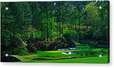 Augusta National Gc - 12th Hole - Golden Bell  Acrylic Print by Michael Graham