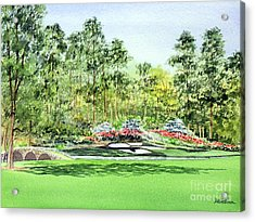 Augusta National Golf Course Acrylic Print by Bill Holkham
