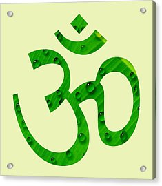 Acrylic Print featuring the painting Aum Symbol Digital Painting by Georgeta Blanaru