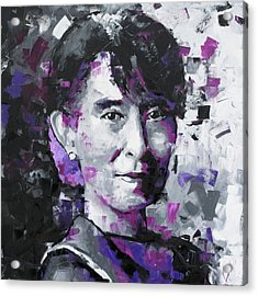Aung San Suu Kyi Acrylic Print by Richard Day