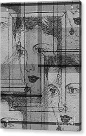 Aunt Edie Black And White Print Acrylic Print