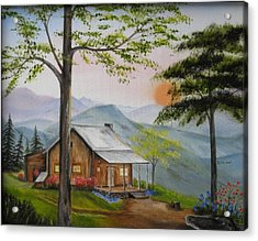 Auntie's Cabin Acrylic Print by RJ McNall