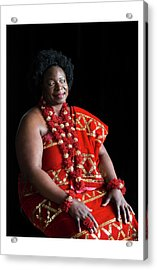Aunty Jeanette Acrylic Print by Celebration Of African Women By Nubian Nights Out