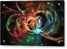 Aura Blaze #art #abstract #digitalart Acrylic Print by Michal Dunaj